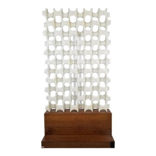 1960s Mid Century Don Harvey Contemporary 'Sculpta-Bone Grille' Screen For Sale