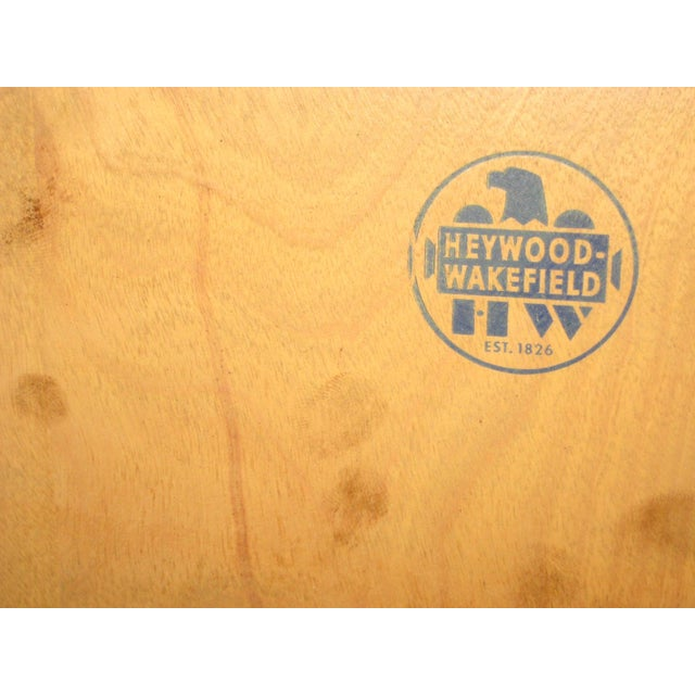 Brown Heywood Wakefield Mid-Century Coffee Table & End Tables - Set of 3 For Sale - Image 8 of 8
