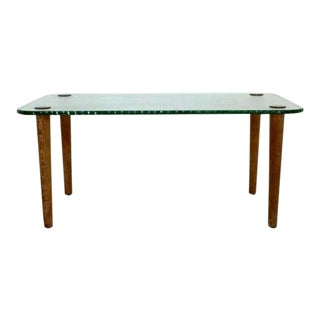 Mid Century Modern Fontana Arte Tempered Chipped Edge Coffee Table 1960s Italy For Sale