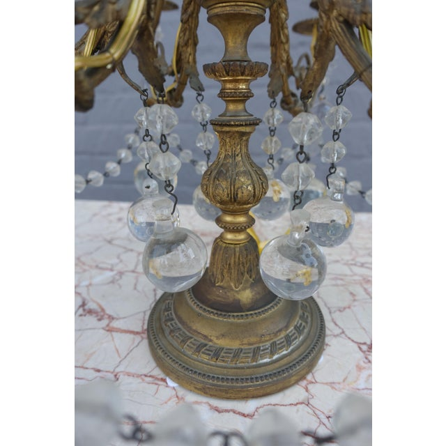 French Crystal & Bronze Lights - Pair - Image 9 of 9
