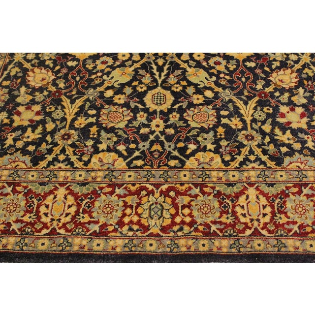Shabby Chic Istanbul Cristoph Blue/Red Turkish Hand-Knotted Rug -4'1 X 6'1 For Sale In New York - Image 6 of 8