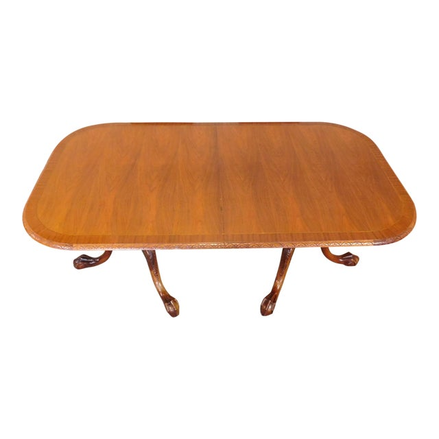 Chippendale Mahogany Banded Dining Room Table - Image 1 of 9