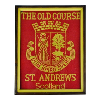 Vintage Framed the Old Course St. Andrews Scotland Golf Towel