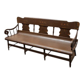 19th Century Settee Bench From Pennsylvania For Sale