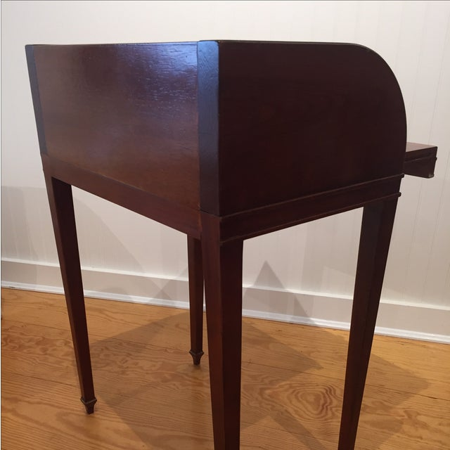 Cherry Roll Top Accent Table - Image 7 of 9