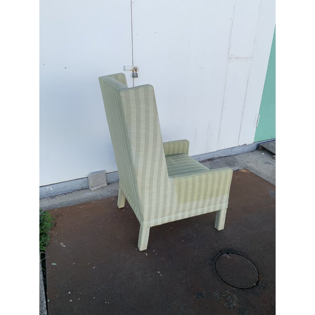 Parson's Chair With X -Base Ottoman For Sale In Tampa - Image 6 of 11
