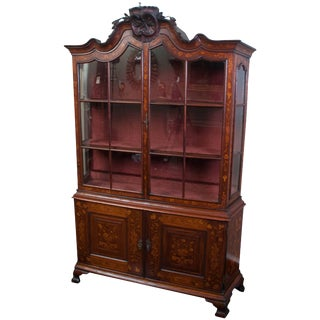 Baroque Style Mahogany Cabinet For Sale