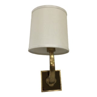 Mid-Century Brass Sconces With Shade For Sale