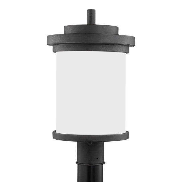 Viola One Light Outdoor Post Lantern, Gray For Sale