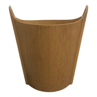 Einar Barnes p.s. Heggen Teakwood Wastebasket Trash Can For Sale