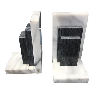 Vintage Marble Bookends - A Pair