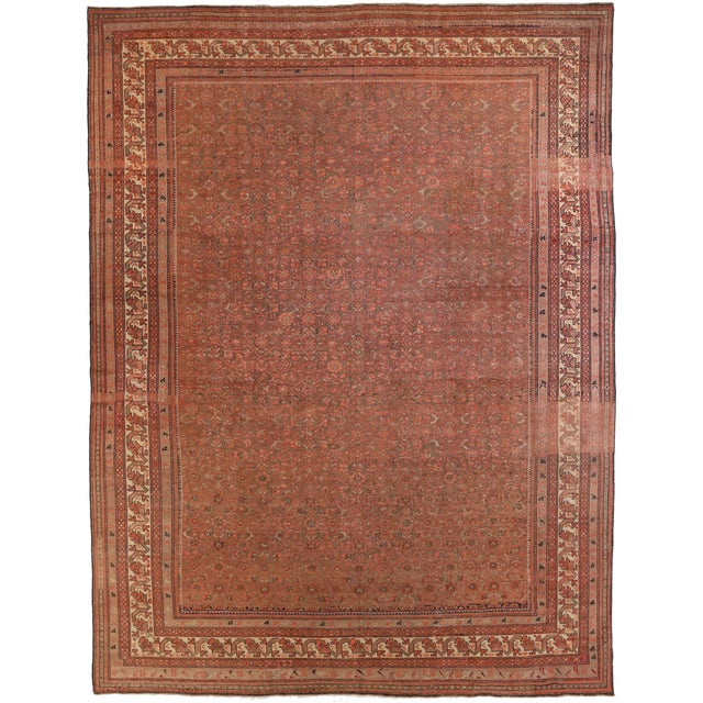 Traditional 1920s Vintage Persian Malayer Rug - 10′3″ × 13′6″ For Sale - Image 3 of 10