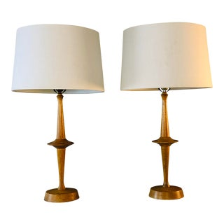 1950s Yasha Heifetz Atomic-Style Table Lamps, Pair For Sale