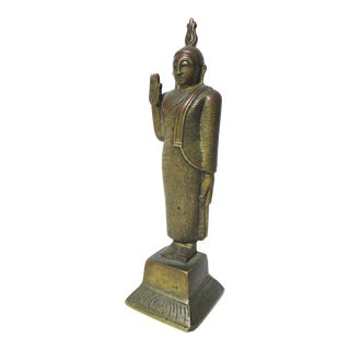 Standing Bronze Buddha From Sri Lanka For Sale
