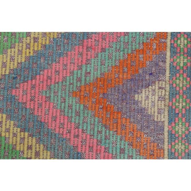 Anatolian Kilim Turkish Embroidery Rug For Sale - Image 9 of 13