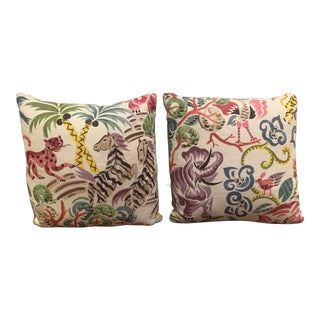 Clarence House Congo Fabric Pillows - A Pair For Sale