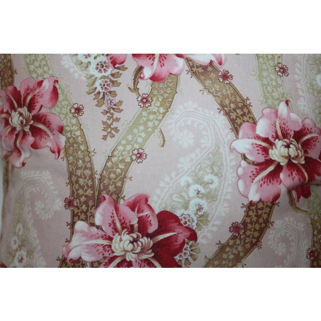 Vintage Floral Patterned Pillow - Image 4 of 6