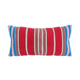Vintage Striped Yoruba Nigerian Lumbar Pillow For Sale