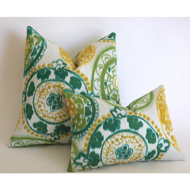 Sunbrella Suzani Outdoor Pillow Cover 20x20 For Sale - Image 4 of 5