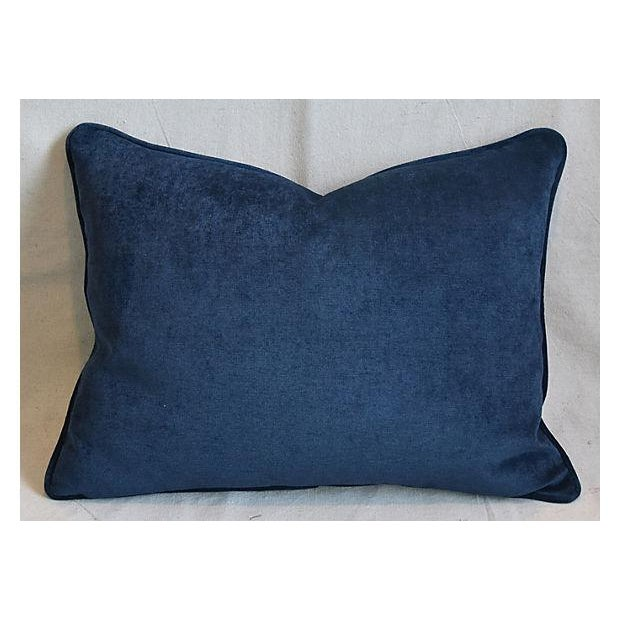 """Fortuny Custom Tailored Italian Fortuny Corone & Velvet Feather/Down Pillow 24"""" X 18"""" For Sale - Image 4 of 7"""