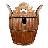 Image of Antique Wood Tea Caddy For Sale