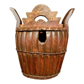 Antique Wood Tea Caddy For Sale