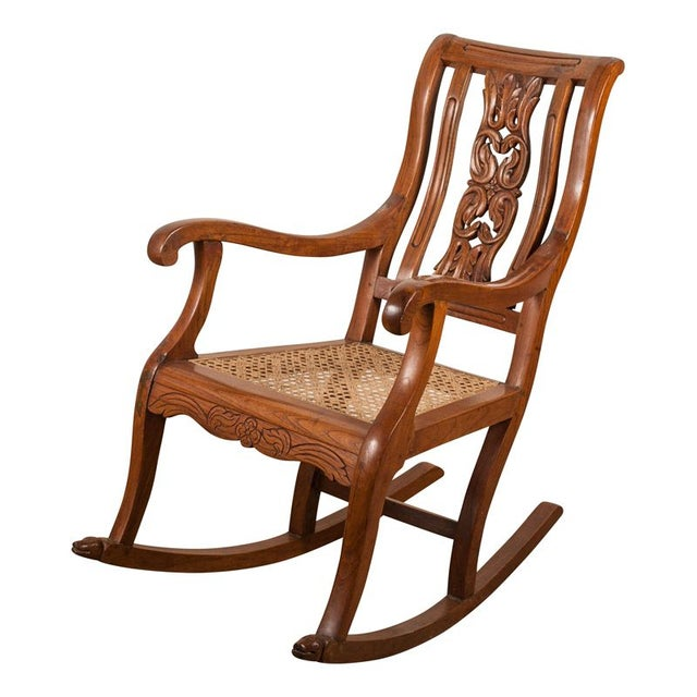 Teak Rocking Chair from 19th C. India - Image 1 of 6