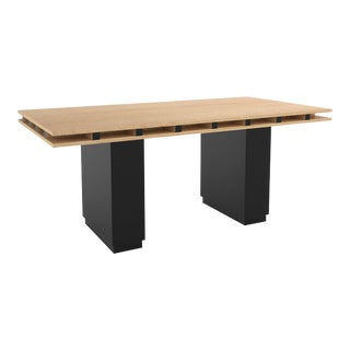 Contemporary 103 Dining Table in Oak and Black by Orphan Work, 2019 For Sale
