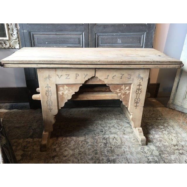 Antique Swiss Money Changing Table - Image 2 of 13