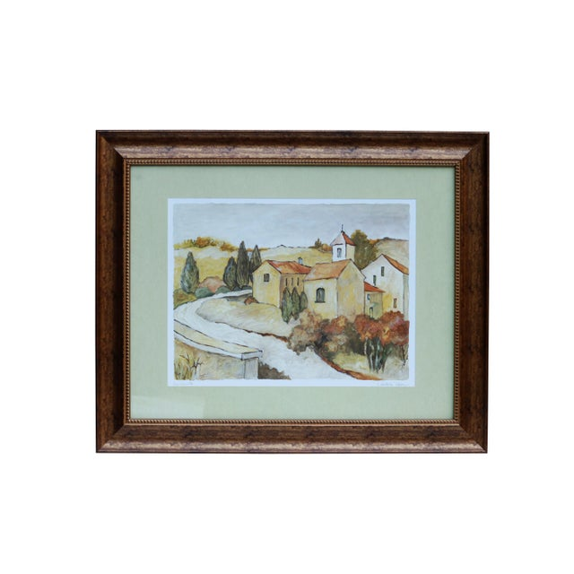 """Green Tuscan Landscape """"Via Orvieto"""" by C. Winterle Olson For Sale - Image 8 of 8"""