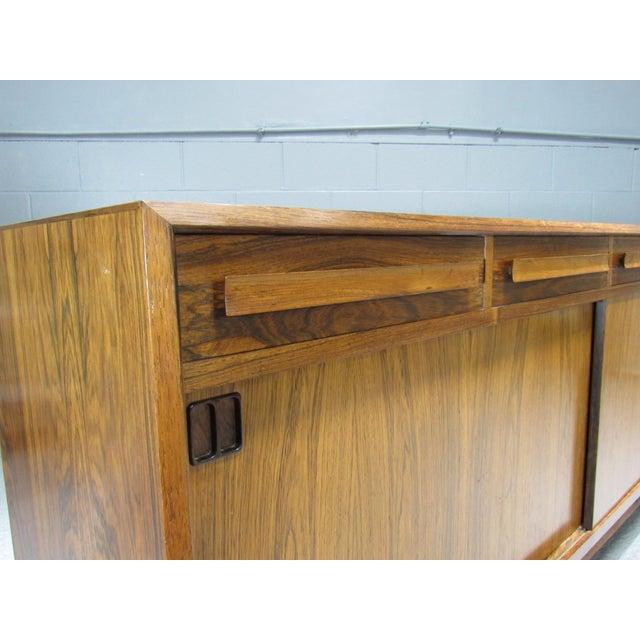 1960s Danish Modern Bordum Og Nielsen Rosewood Sideboard For Sale In Boston - Image 6 of 12