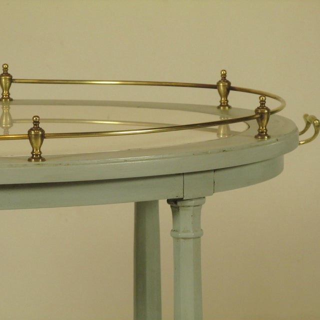 1900s English Gray Painted Tea Cart For Sale - Image 5 of 11
