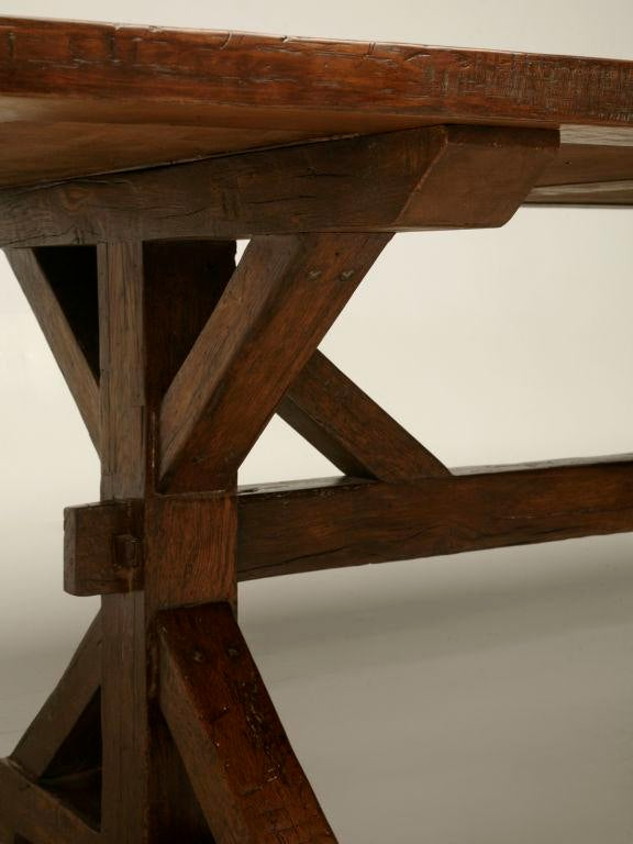 Handmade French White Oak Farm Table For Sale   Image 10 Of 10