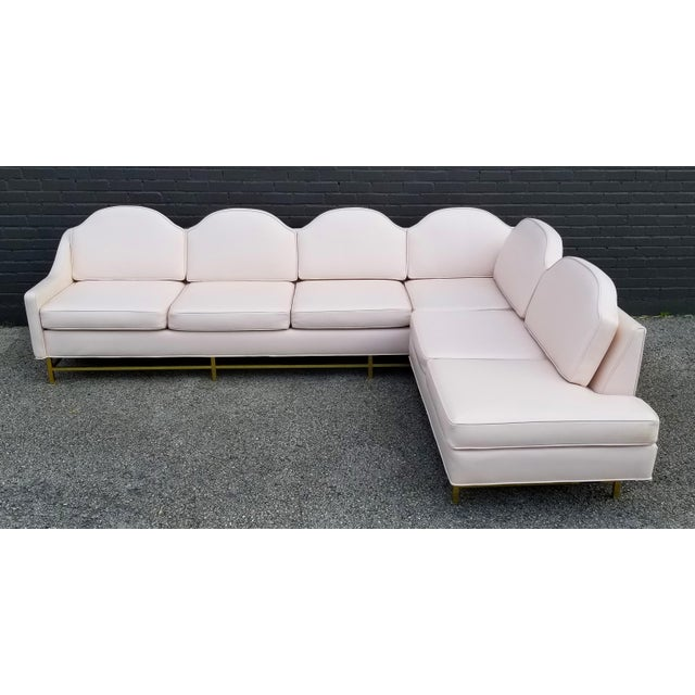 """Gold Kipp Stewart and Stewart McDougall Mid-Century Modern """"Suncoast"""" Sectional Sofa For Sale - Image 7 of 13"""