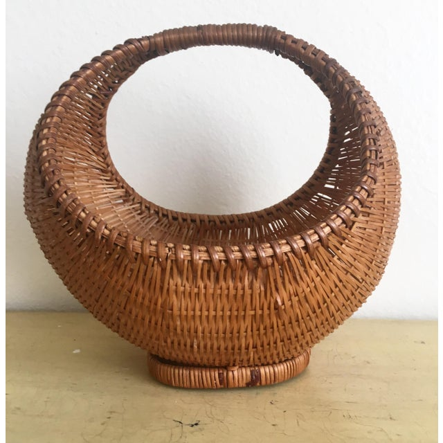 Fall Harvest Round Rattan Basket - Image 3 of 6