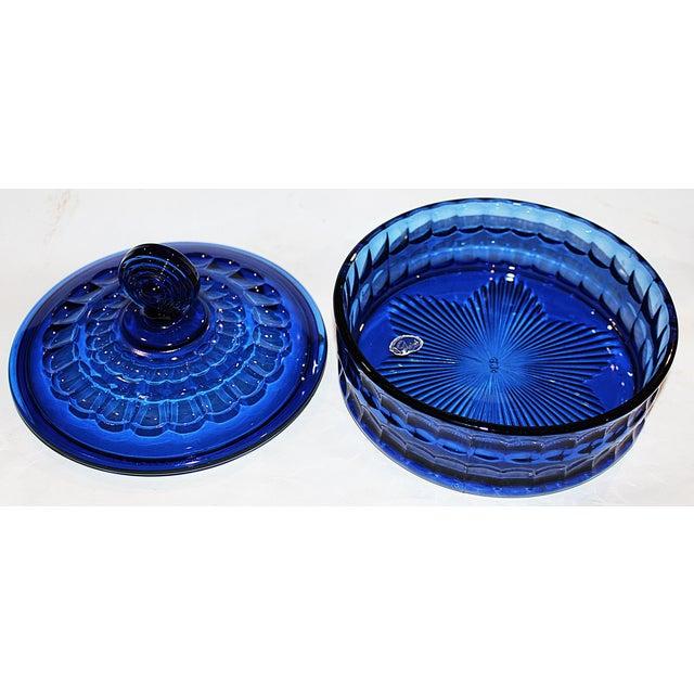 Imperial Cobalt Lidded Bowl - Image 5 of 6