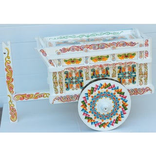Painted Rolling Tea Cart Preview