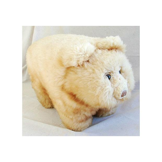 Vintage Lambswool Bear Ottoman - Image 3 of 8