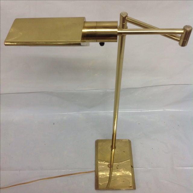 Walter Van Nessen Brass Swing Arm Floor Lamp - Image 4 of 5
