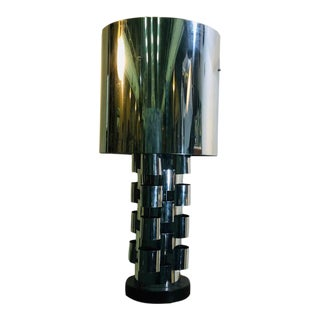Curtis Jere Chrome Sky Scraper Table Lamp For Sale