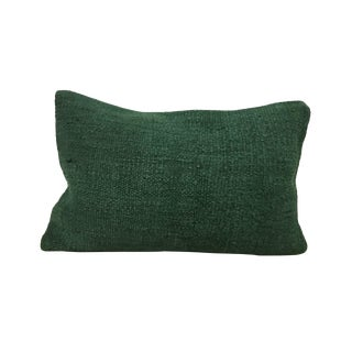 Turkish Green Handwoven Pillow Cover For Sale