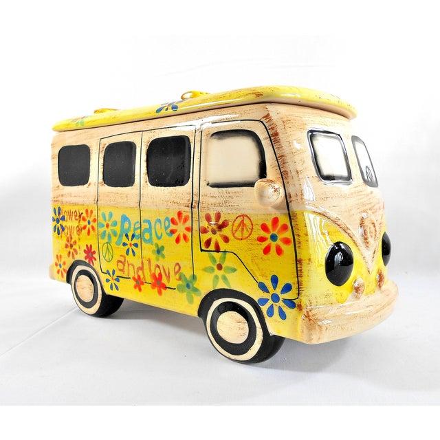 Yellow Hippie Van Ceramic Cookie Jar - Image 3 of 10