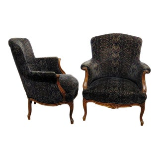 Pair of Louis XV Style Bergeres For Sale