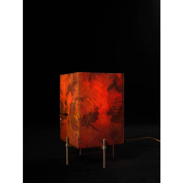 Contemporary AKMD Southern Yellow Pine Table Translucent Lamp For Sale - Image 3 of 6