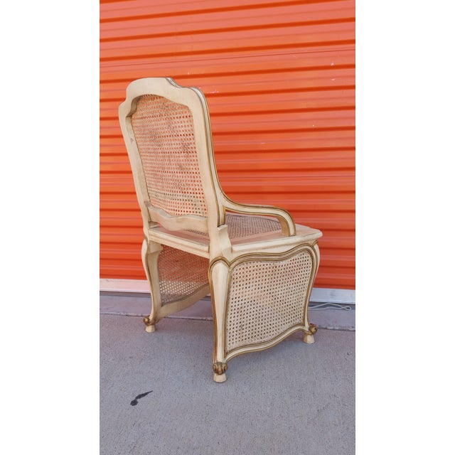 French Provincial Commode Chair For Sale - Image 4 of 5
