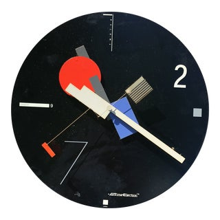 Vintage Memphis Style Wall Clock