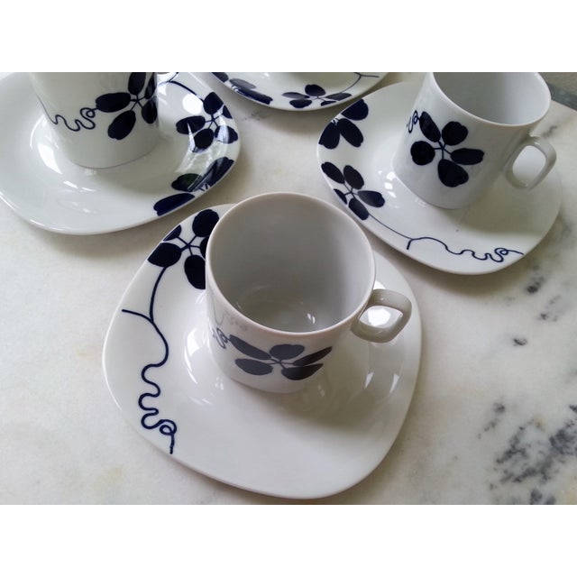 Mid-Century China Langenthal Cups & Saucers For Sale - Image 4 of 9