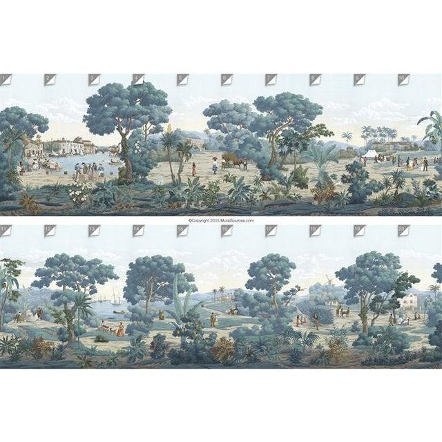 """Asian Casa Cosima Bajan Mural - 4 Panels 144"""" W X 120"""" H For Sale - Image 3 of 5"""