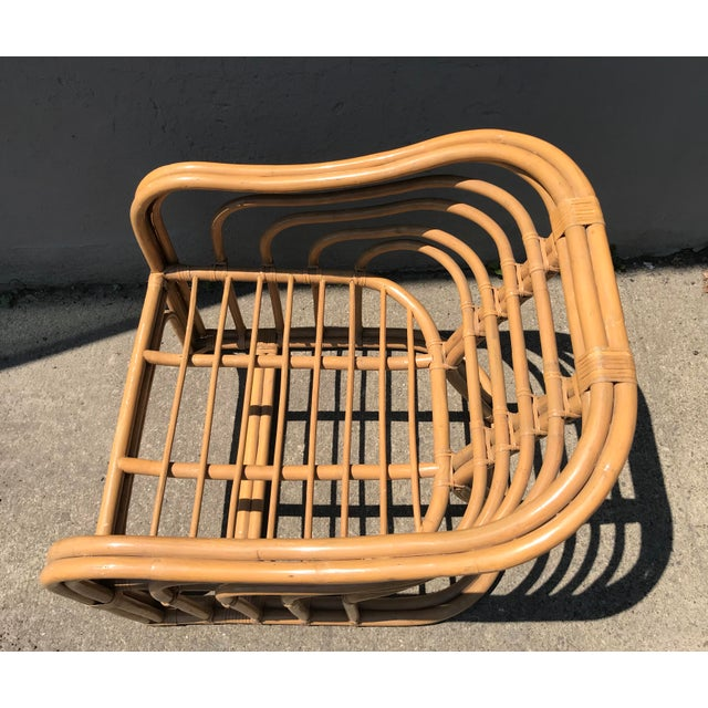 Bamboo 1970's Vintage Rattan Lounge Chair For Sale - Image 7 of 8