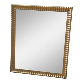 Champagne Finish Custom Framed Mirror For Sale